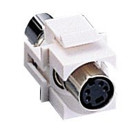 KEYSTONE MODULE S-VIDEO WHITE SNAP-IN
