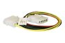 """ISOTECH Power Cable internal 1x5.25""""M to 1x5.25""""F,1x3,25"""" 0,3m"""