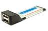 SUNIX Express Card, 34mm, SATA-300, 2xeSATA-portar