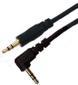 AIC Audiokabel 3,5mm -  0,5 m 90° 3,5mm - 3,5mm Vinklet