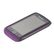 BLACKBERRY BB 9850/9860 PREMIUM SKIN BLACK W/ROYAL PURPLE ACCENT