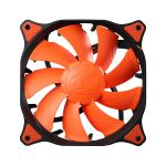 COUGAR Vortex PWM chassiefläkt,  120x120mm,  4-pin, svart/ orange