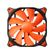 COMPUCASE COUGAR Vortex chassiefläkt,  120x120mm,  3-pin, svart/ orange