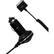 DELTACO ciggladdare från 12V till 5V 2,1A för iPad, 1m spiral, svart