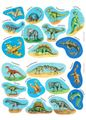 Stickers Dinosaur 12ark / GENERIC BRANDS (9310426)