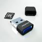 A-DATA MicroReader Adata V3, microSD-SDHC, USB2, Black with blue LED