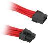 BITFENIX 8-Pin PCIe Verlängerung 45cm - sleeved rot/schwarz