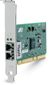 ALLIED TELESYN Gigabit Ethernet Fiber Adapter Card, Fiber LC Connector, PCI-X, Single Pack, RoHS version