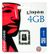 KINGSTON UPG 4GB MICROSD HC FLASH CARD SINGLE PACK - CARD ONLY