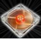 AKASA Ultra Quiet Amber Vifte 120mm, 1400 RPM, 44.8 CFM, 18.0 dBA