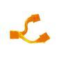 """AKASA Y-kabel intern för 2st 5,25"""", UV-känslig, orange"""