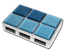 I-ROCKS IR-4370 Ice Cube Blue USB 2.0 4-port Hub