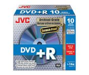 DVD+R 16X 4,7GB Archival 10-pack