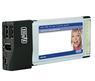SWEEX 2 port USB 2.0 og 2 port Firewire IEEE1394a 4+6-pin, PC CARD <>