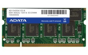 A-DATA 1GB SO-DIMM DDR400 200pin Notebook RAM,non-ECC,64*8*16 chips