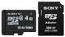 SONY MICRO SD 4GB CLASS 4 INCL. ADAPTER IN