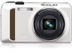"CASIO Digitalcam Exilim ZR400 White 16.1MP CMOS 12.5x Optical Zoom (24-300mm) 3"" LCD Full-HD Video High-Speed ISO:25600"