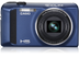 "CASIO Digitalcam Exilim ZR400 Blue 16.1MP CMOS 12.5x Optical Zoom (24-300mm) 3"" LCD Full-HD Video High-Speed ISO:25600"