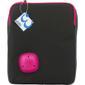 """EPZI bärväska för surfplattor upp till 10"""", axelrem, svart/rosa"""