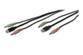 ASSMANN Electronic Audio + USB kabels't for KVM-switches (2x3,5mm han, USB A han, 2x3,5mm han, USB B han) Sort, 1,8m