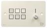 SY Electronics SY KP6V Panel 6 button+volum 147x86 hvit 4xIR/RS-232, 2xInPorts, 2xRelay TriColor