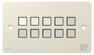 SY Electronics SY KP10 Panel 10button 147x86 hvit 4xIR/RS-232, 2xInPorts, 2xRelay TriColor