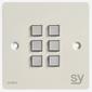 SY Electronics SY KPM6 Panel 6 button 86x86 hvit 2xIR/RS-232, 2xInPorts, 2xRelay TriColor