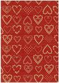 Presentpapper 35cmx179m Dotted hearts / HEDLUNDS (BR16221-35)