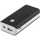 DELTACO EPZI Powerbank,  portabelt batteri 5200mAh, USB 5V 1A, blå (PB-1027)