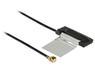 DELOCK WLAN Antenna MHF/UF.LP-068 Compatible Plug 802.11 ac/a/h/b/g/n CCD 1 dBi 200 mm Internal