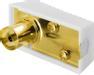 DELTACO antennkontakt, 9,5mm hona, vinklad, skruvmont, guldpl.