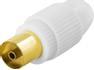 DELTACO Antennkontakt, 9,5mm hona, skruvmontering, guldpl. kont.