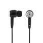 DELTACO öronsnäckor, 3,5mm, 1,2m kabel, 3 olika sleeves, svarta