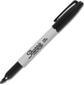 SHARPIE permanent märkpenna, svart, rund fin, 12-pack, svart/vit