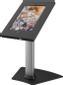 EPZI bordstativ för iPad 2/3/4, låsbar, två nycklar, låshål, silv/sv