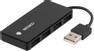 DELTACO USB 2.0 hub, 4xType A hun, sort