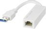 DELTACO USB 3.0 nätverksadapter, gigabit, 1xRJ45, vit