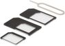 DELTACO SIM-kortadapter til micro/mini/nano-sim, sort