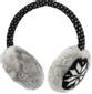 STREETZ tygklädda hörlurar med mikrofon, 1,2m kabel, svart/grå