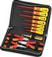 SPROTEK ST-7639, verktygskit med 7 mejslar, 3 tänger, 1000V, röd/gul