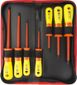 SPROTEK STK-9612, skruvmejselkit, 7 delar, 1000V, röd/gul