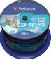 VERBATIM 52x CD-R 80min 700MB Print (SuperAZO) 50-pack Cake Box
