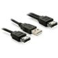 DELOCK Power over eSATA Y-kabel med USB A-hane 1m