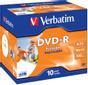VERBATIM 16x DVD-R 4,7GB Print (Metal AZO) 10-pack Jewel Case