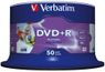 VERBATIM 16x DVD+R disc 4,7GB Wide Print (Advanced AZO) 50-pack Cake Box