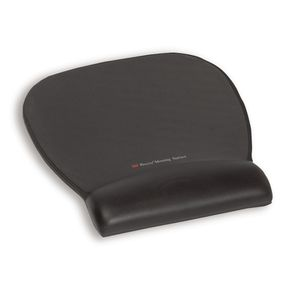 3M Precise Mousing Surface with Gel Wrist Rest, Black