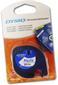 DYMO Tape Dymo LetraTAG 12mm Plast sort/hvit