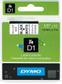 DYMO Tape SORT/HVIT 12MM X 7M