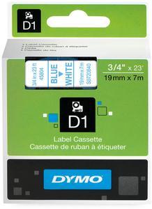 DYMO Dymo teksttape D1 45804 19mm Blå/Hvid