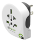 Q2Power Travel Adapter Grounded 10A World - USA White